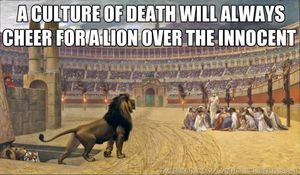 Why Cecil Matters More than Aborted Babies, Credit Facebook, Catholic Memes