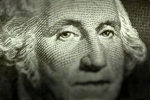 George Washington's face from a dollar bill