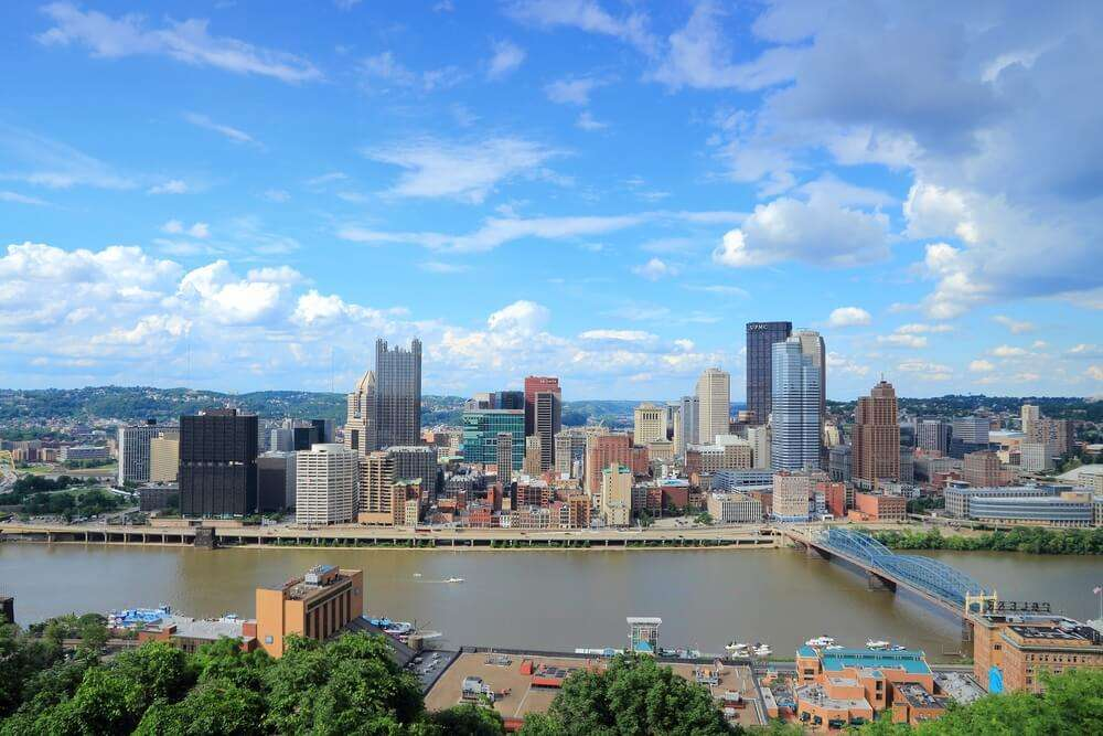 Pittsburgh skyline during the day