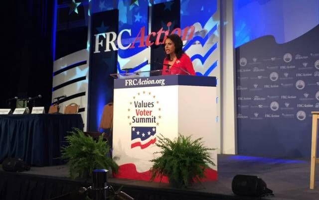 Brigitte Gabriel, president of ACT for America, speaks at the Values Voter Summit. Photo credit: Tyler O'Neil, PJ Media