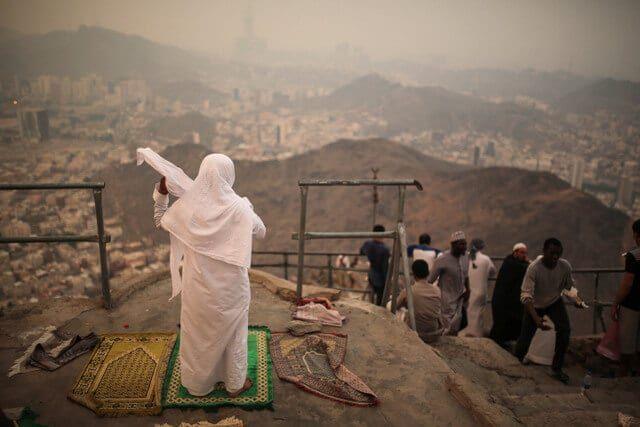 Prayers at Noor Mountain