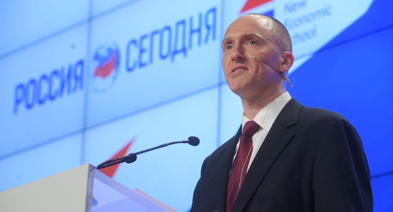 carter page speaking in moscow