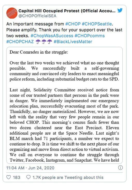 CHOP Chaz Message