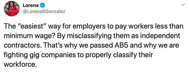 California Democrat and AB5 Author
