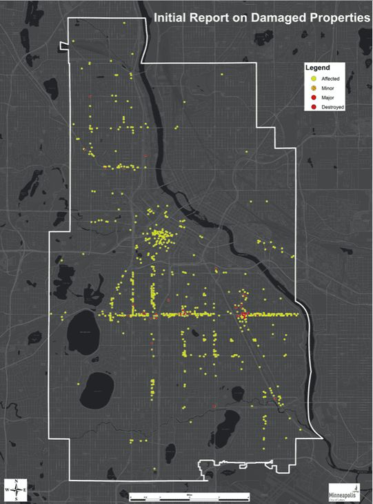 Minneapolis George Floyd riots destruction