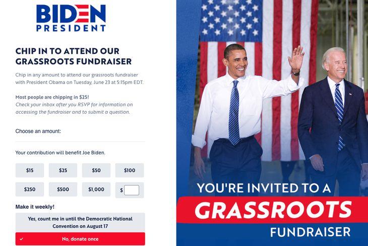 Biden Obama fundraiser