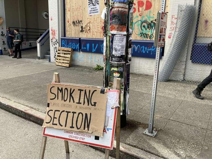 Antifa Seattle smoking section