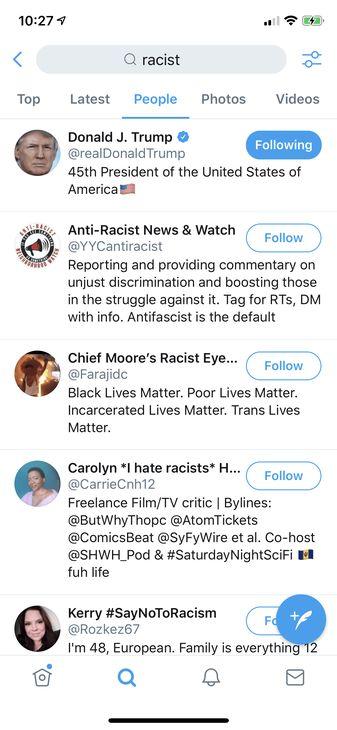 Trump racist Twitter