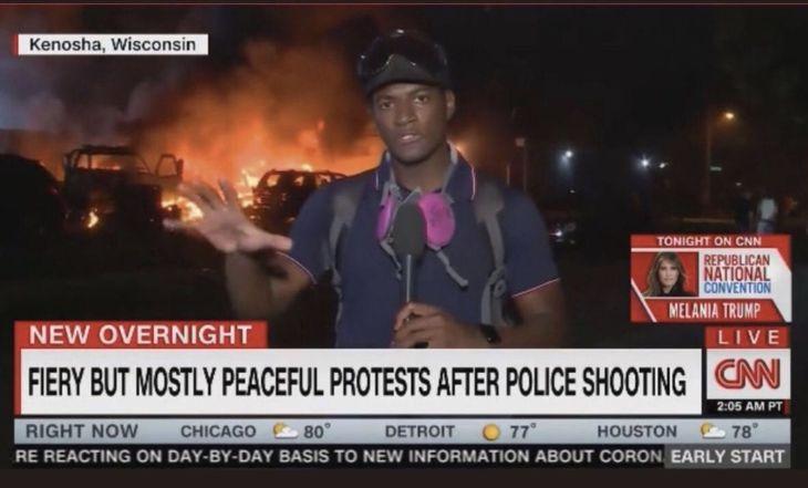 Insanity Wrap Presents CNN Fiery But Peaceful