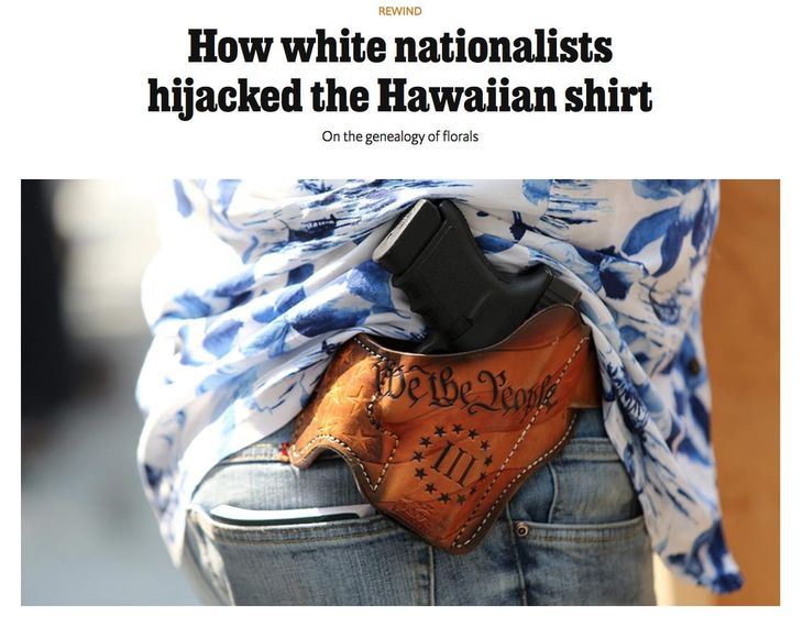 The economist Hawaiian shirt white supremacy