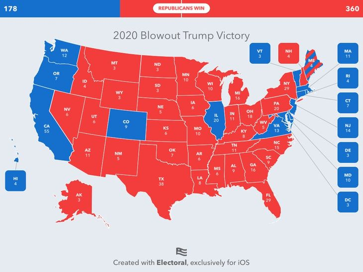 2020 Blowout Trump Victory