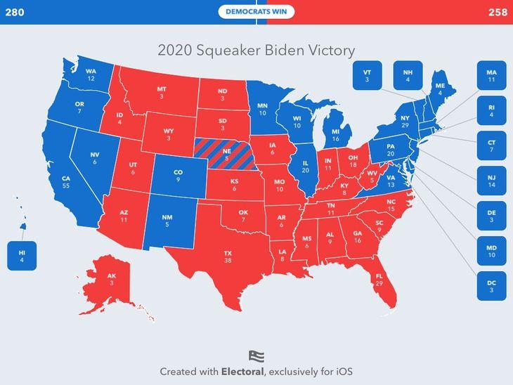 2020 Squeaker Biden Victory