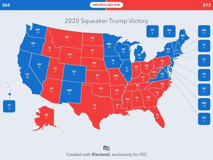 2020 Squeaker Trump Victory