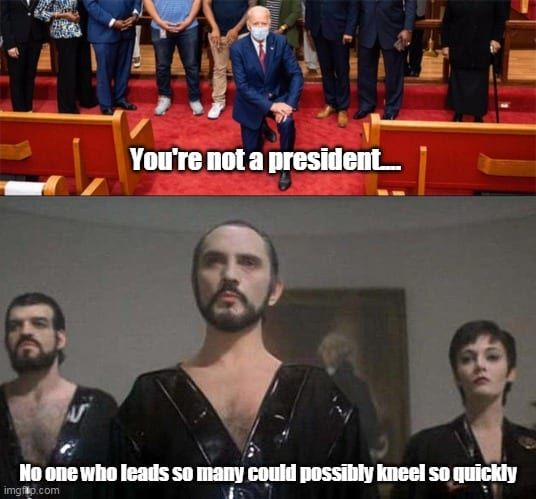 Joe Biden Kneels Before Zod