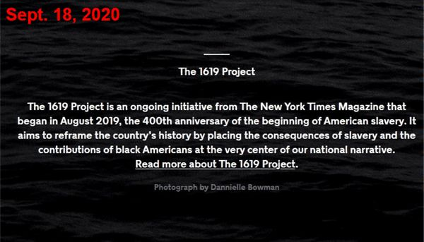 1619 Project founding