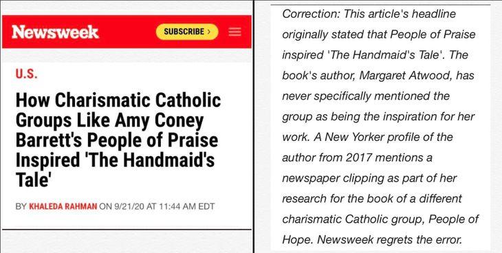 Amy Coney Barrett Handmaid's Tale