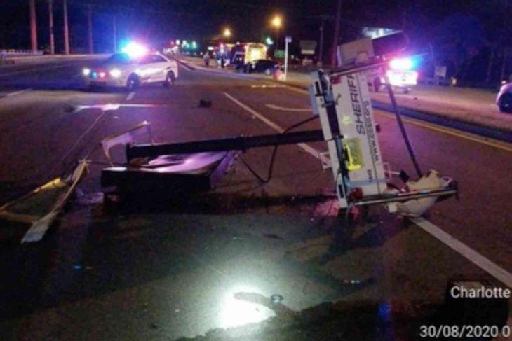 "Florida Man crashes into ""Drive Sober or Get Pulled Over"" sign, gets arrested for DUI"