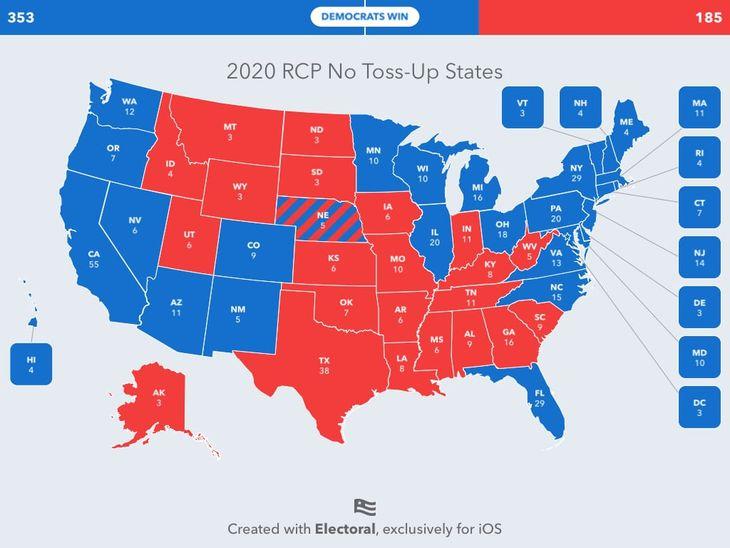Biden Victory No Tossups