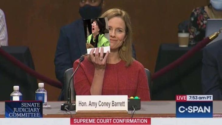 Amy Coney Barrett Drinks Liberal Tears