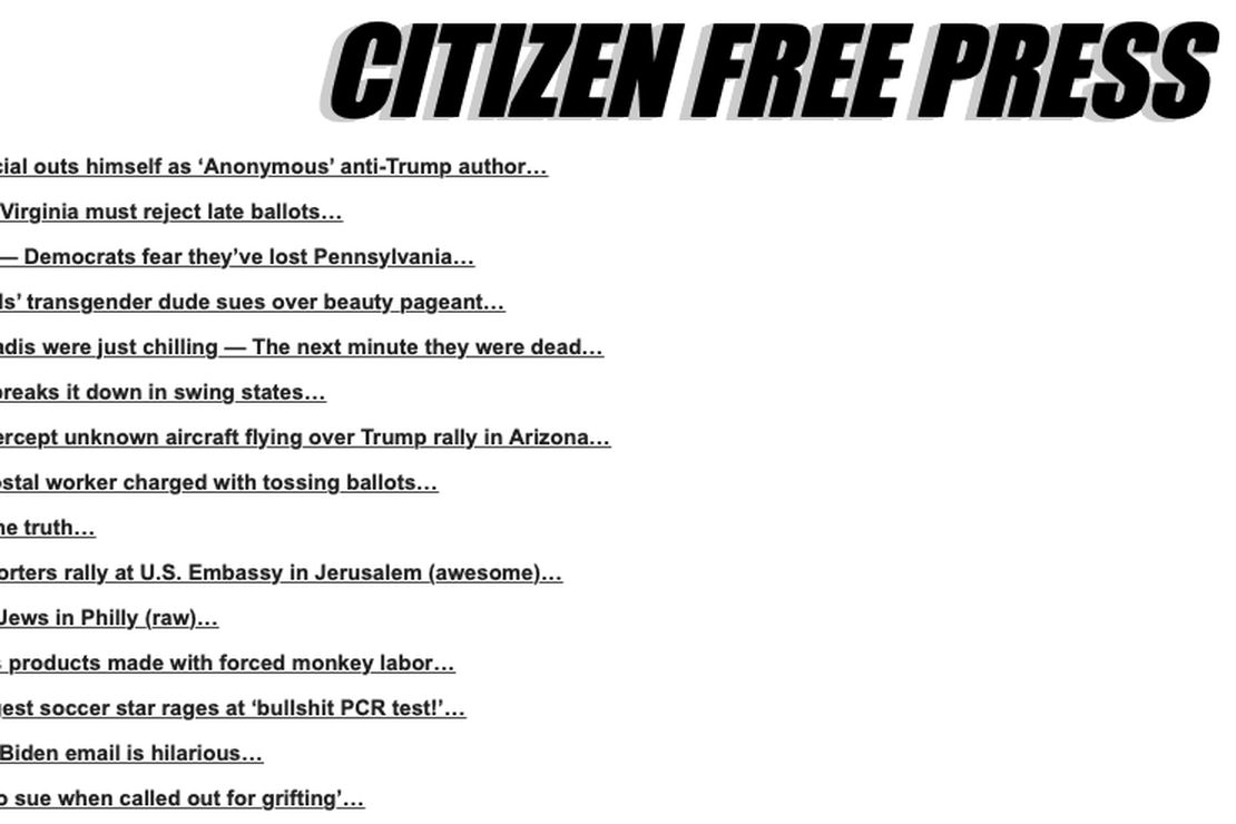 Drudge Alternative Citizen Free Press Mysteriously Disappears From Bing, Yahoo, Duck Duck Go — Updated