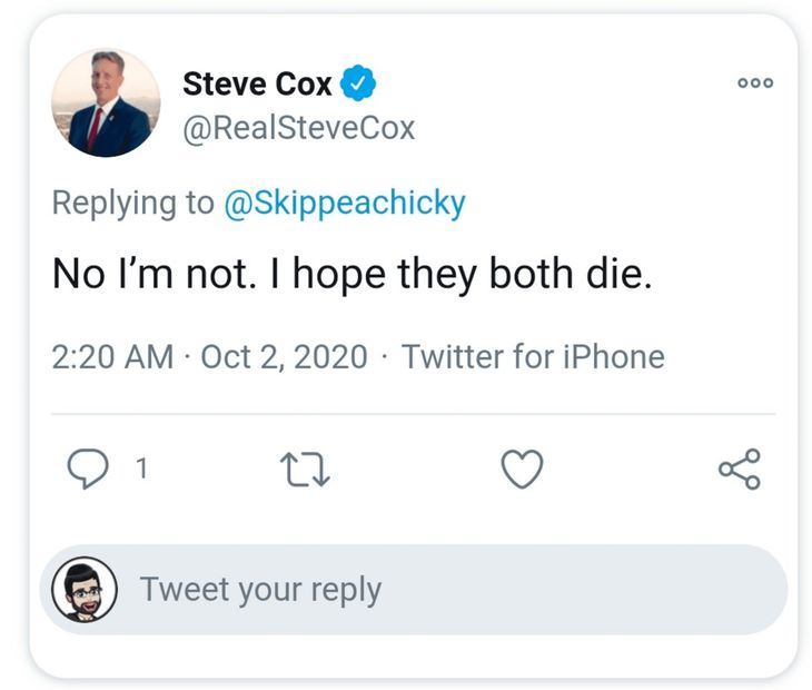 Steve Cox Wants Trump to Die