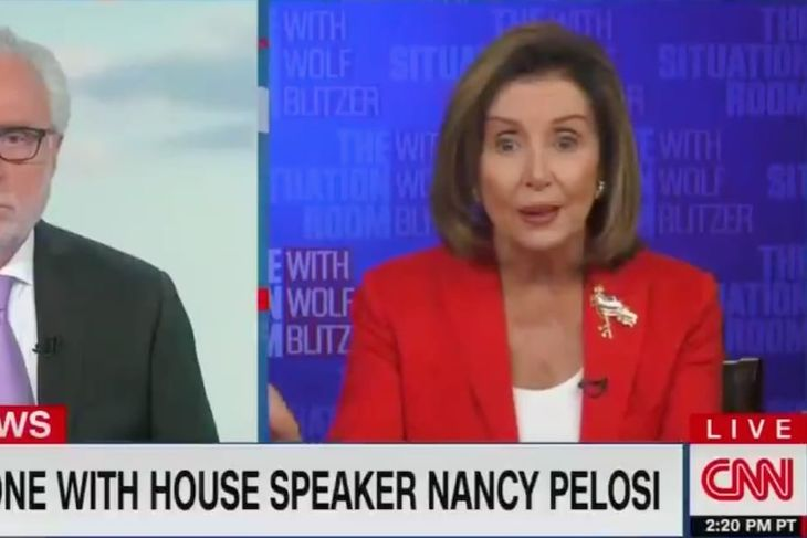 Pelosi Ridicules CNN's Blitzer in Contentious Exchange