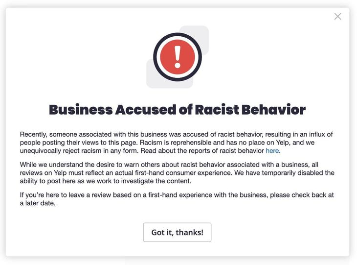 Yelp Racist