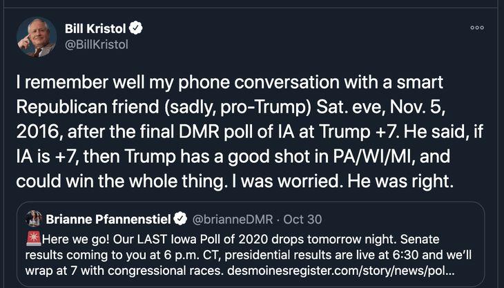 Bill Kristol scared Trump takes the lead in Iowa