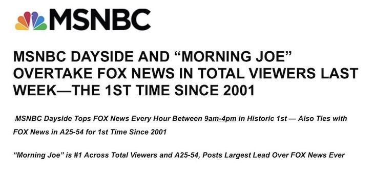 MSNBC Trumps Fox News
