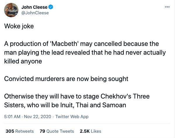 John Cleese transgender tweet