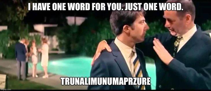 Insanity Wrap Has Just One Word: Trunalimunumaprzure