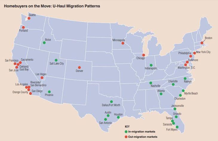 U-Haul Moving Patterns