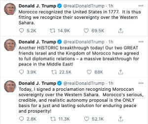 Trump Morocco Israel Abraham Accords