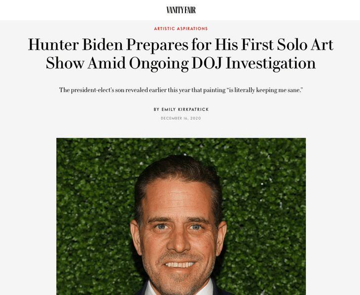 Hunter Biden Vanity Fair