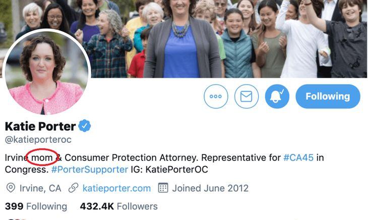 Katie Porter gender neutral