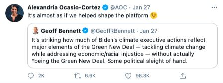 AOC Green New Deal Biden Climate