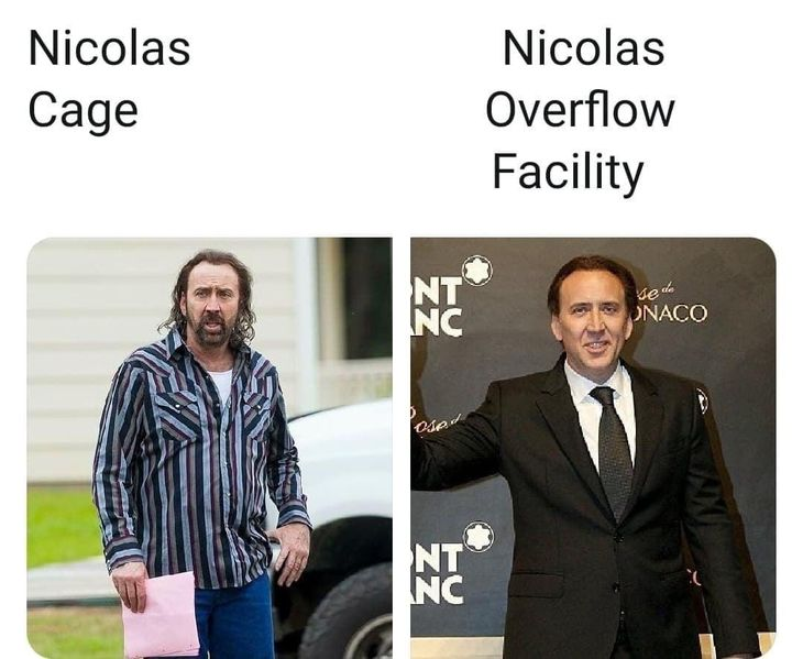 Nic Cage or Overflow Facility