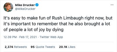 Rush Limbaugh rest in piss