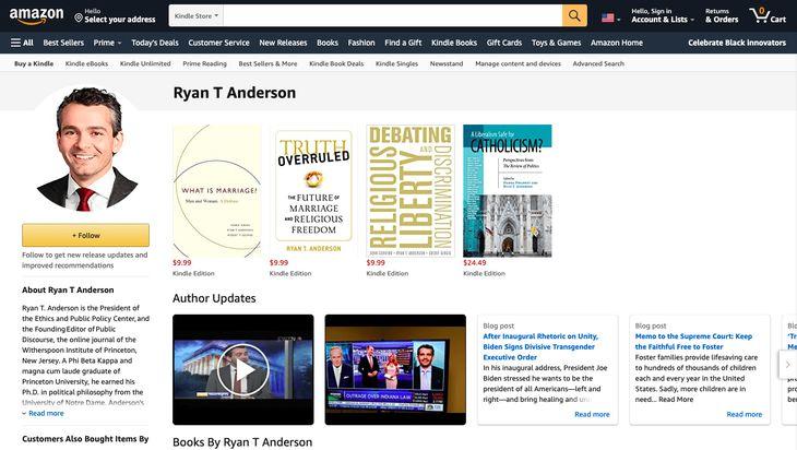 Amazon transgender book Ryan T. Anderson
