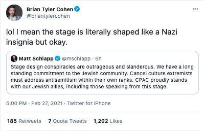 Nazi symbol CPAC stage