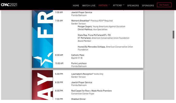 CPAC schedule