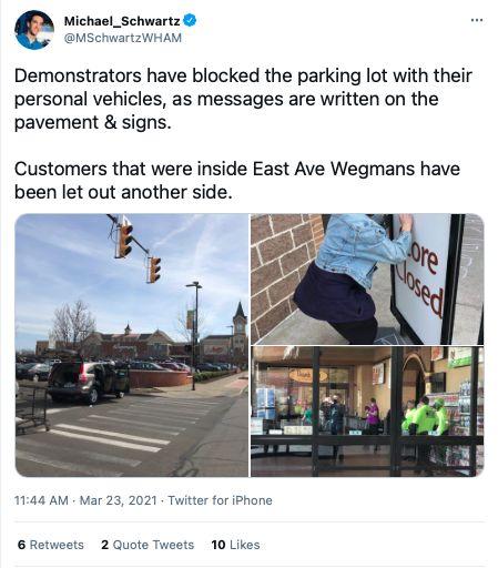Black Lives Matter Rochester Wegmans