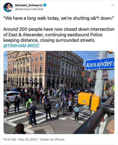 Black Lives Matter shuts down Rochester street.