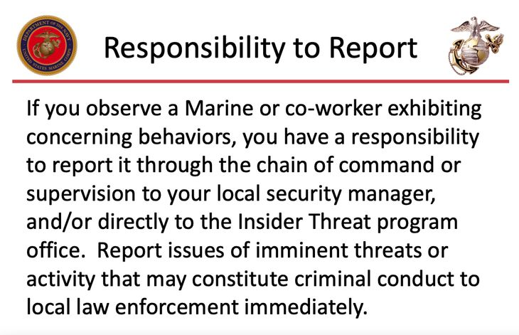 Marines extremism stand down materials.