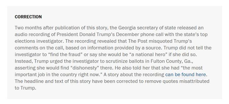 Washington Post Amy Gardner Mistake