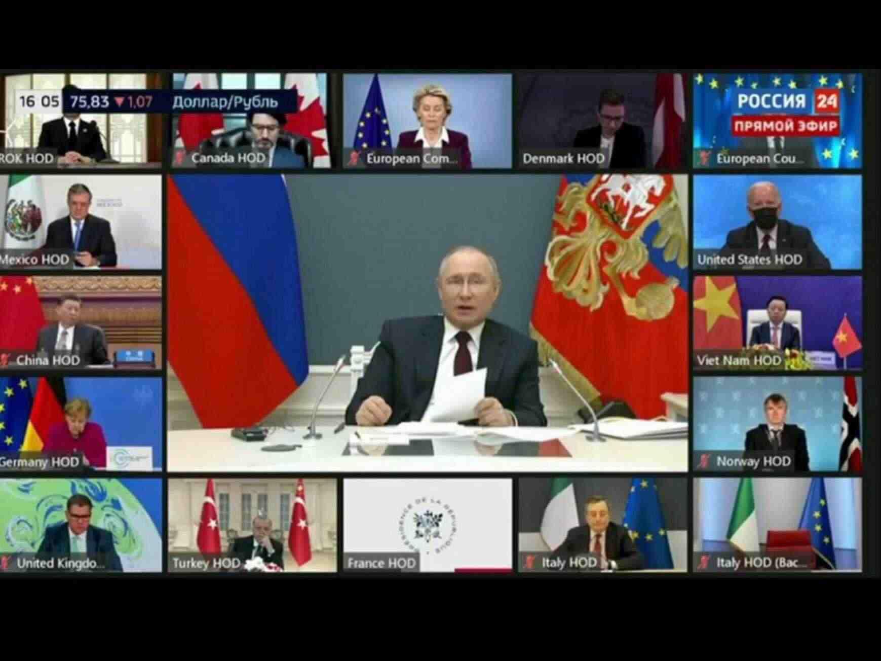 Biden Mask Videoconference