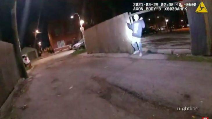 YouTube screenshot of Adam Toledo police shooting bodycam footage.