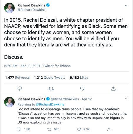 Richard Dawkins transgender