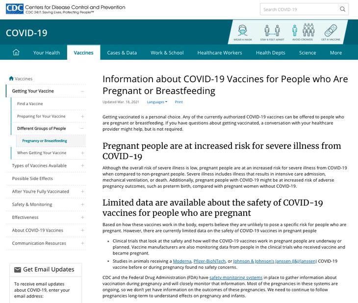 CDC pregnant people woke transgender
