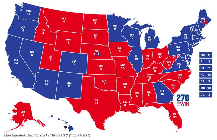 Electoral College map House